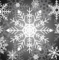 Snowflakes Black And White by Kathleen Wong
