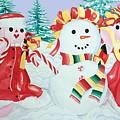 Snowgirls With Serape Scarf by Kandyce Waltensperger