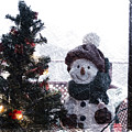 Snowman And Tree Pa by Thomas Woolworth