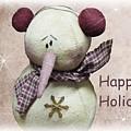 Snowman Greeting Card by David Dehner