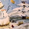 Snowman Hug by Mindy Newman