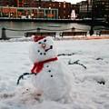 Snowman In Boston by Dawn Wirth