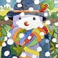 Snowman In Snow by Jennifer Abbot