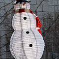 Snowman On The Roof by Christopher Holmes
