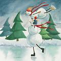 Snowmen Skating by Chantal Candon