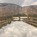Snowy Alpine Lake by Ian Middleton