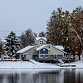 Snowy Boat House by Michael Putthoff