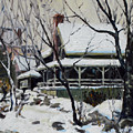 Snowy Cottage by Chris Coyne