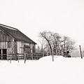 Snowy Day At The Farm by Edward Myers