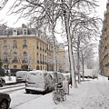 Snowy Day In Paris by Louise Heusinkveld