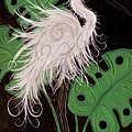 Snowy Egret Deco by Helen Gerro