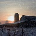 Snowy Farm by Evelyn Patrick