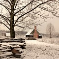 Snowy Farm House by Buddy Scott