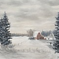 Snowy Farm  by J O Huppler
