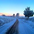 Snowy Lane by Sebastien Coell