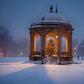 Snowy Night On The Salem Common by Jeff Folger