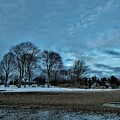 Snowy Obear Park, Beverly Ma, At Dusk by Scott Hufford