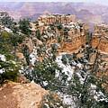 Snowy Pillar 2 - Grand Canyon by Larry Ricker