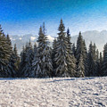 Snowy Pines - Pol970909 by Dean Wittle