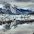 Snowy Reflections In Medicine Lake by Adam Jewell