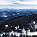 Snowy Ridges - Impressions Of Mountains by Georgia Mizuleva
