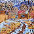 Snowy Road Home by John Rose