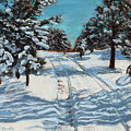 Snowy Road Home by Mary Benke