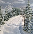 Snowy Road  by J O Huppler
