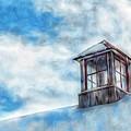 Snowy Rooftop  by Tom Kiebzak