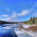Snowy Shore Of The Moose River by David Patterson