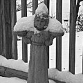 Snowy Statue by David Campbell