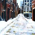 Snowy Street by Leonardo Ruggieri