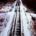 Snowy Train Tracks by Anthony Jones