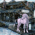 Snowy Unicorn by Digital Art Cafe
