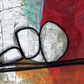 So We Begin- Abstract Art by Linda Woods
