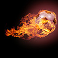 Soccer Ball With Fire by Andreas Berheide