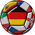 Soccer Ball With Flag Of German In The Center by Michal Boubin