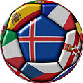 Soccer Ball With Flag Of Iceland In The Center by Michal Boubin