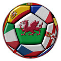 Soccer Ball With Flag Of Wales In The Center by Michal Boubin