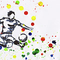 Soccer Player In Action by Karen Kaspar