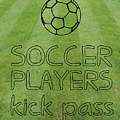 Soccer Players Kick Pass Poster by L Bee