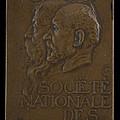 Soci?t? Nationale Des Beaux-arts: Jean-louis Ernest Meissonier And Pierre Puvis De Chavannes [obverse] by Alexandre Charpentier