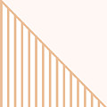 Soft Blush And Coral Stripe Triangles by Linda Woods