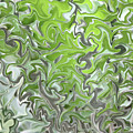 Soft Green And Gray Abstract by Carol Groenen