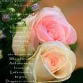 Soft Pastel Roses by Ellen Barron O'Reilly