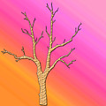 Soft Pastel Tree Abstract by Aimee L Maher ALM GALLERY