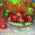 Soft Peaches Still Life by Georgiana Romanovna