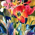 Soft Quilted Tulips by Kathy Braud