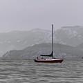 Soft Sailboat Stormy Lake by Heather Joyce Morrill