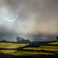 Solar Eclipse Over County Clare Countryside by James Truett